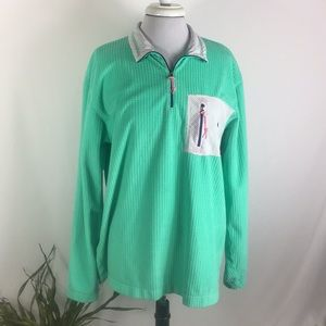 Southern Marsh Quarter Zip Pullover- Size Large